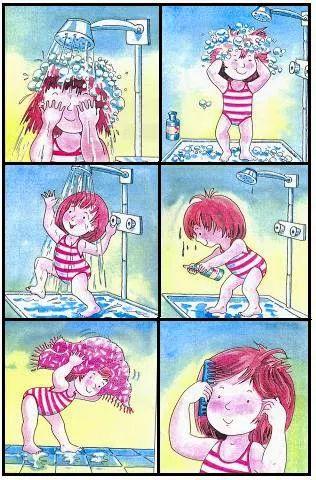 * Logische volgorde: Onder de douche!