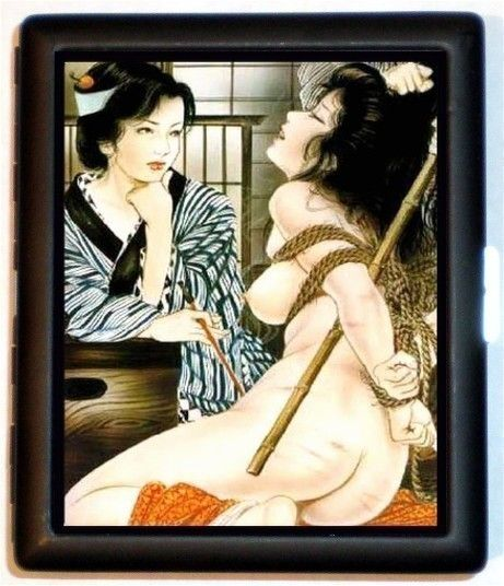 japanese geisha nude bdsm - Japanese Geisha Cigarette Case BDSM Bondage Fetish Art Sexy Risque Erotica  Japan Asian Manga ID Business Card Credit Card Holder Wallet