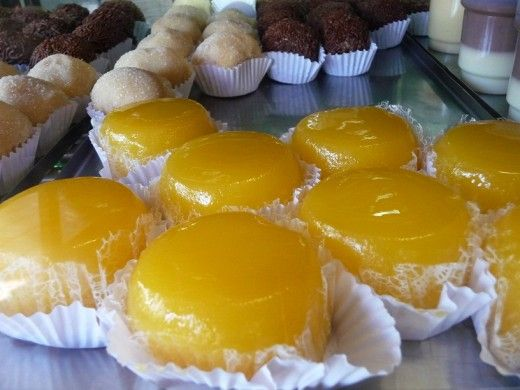 Quindim (keen-deem) is a type coconut flan. It is one of Brazil's most popular desserts and usually served at bridal or wedding showers, birthday parties, holidays, and of course, bakeries. It is very yellow due to the high quantity of egg yolks...