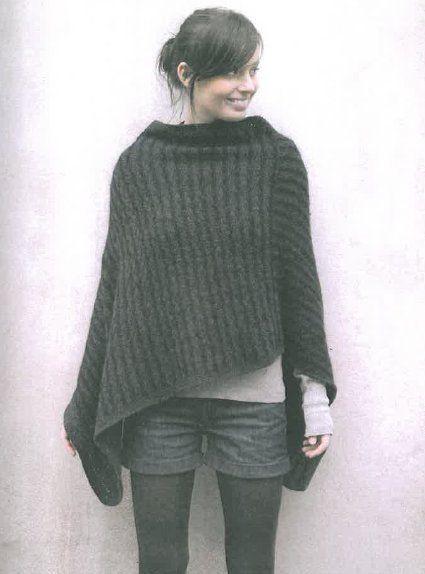 modele poncho tricot