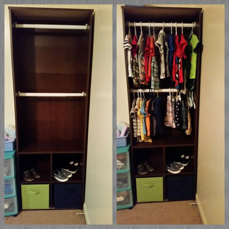 Closet Bookshelf For Baby Clothes My Projects Cool