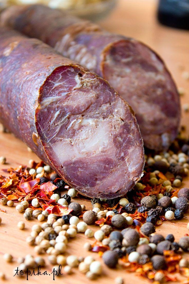 swojska kiełbasa, kiełbasa krakowska, krakowska sucha, kiełbasa tradycyjna, domowa kiełbasa, wędlina, kiełbasa bez konserwantów,