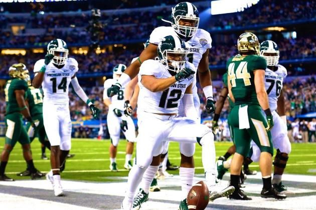 Cotton Bowl 2015: Live Score, Highlights for Michigan State vs. Baylor, GO GREEN GO WHITE