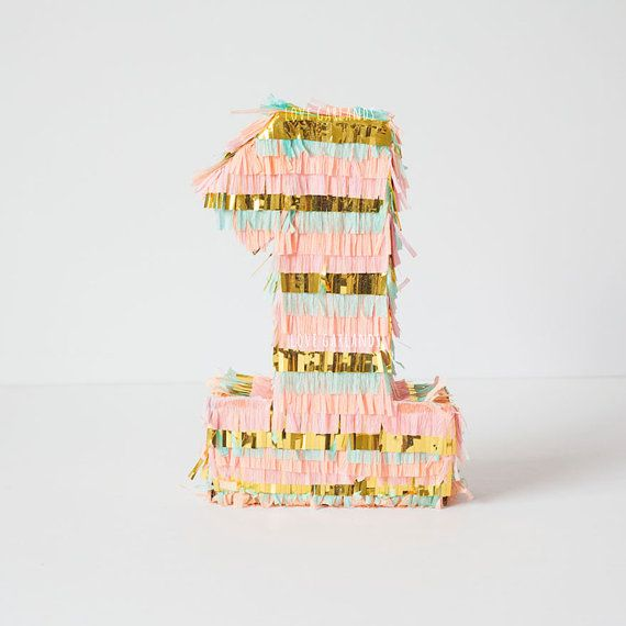 Pinata Fringe Number Letter First Birthday Pinata by LoveGarlands