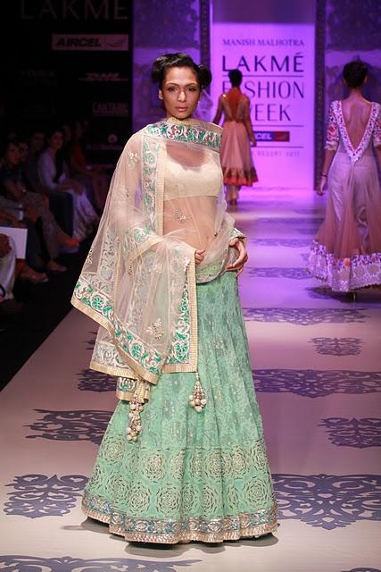 Manish Malhotra at Lakmé Fashion Week for Summer/Resort 2011 #lehenga #choli #indian #shaadi #bridal #fashion #style #desi #designer #blouse #wedding #gorgeous #beautiful