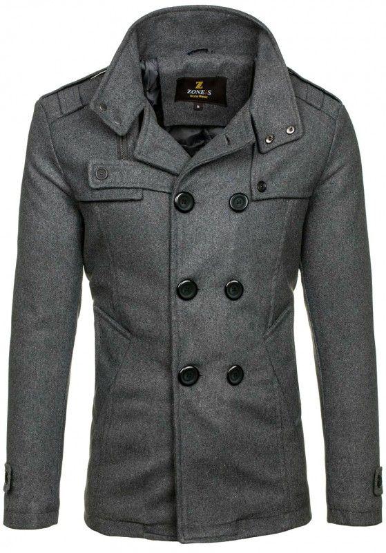 Pánský kabát - Rock, šedý