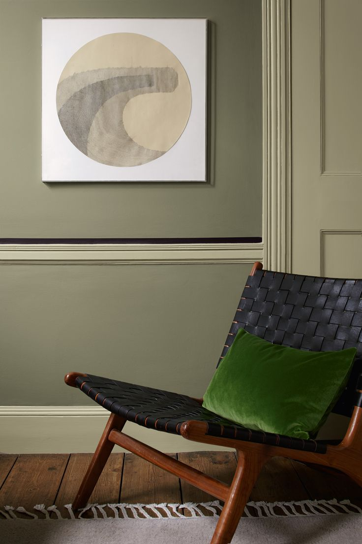 Green is said to be a balancing, revitalising colour, so carve out a space for restoration surrounded by muted leafy greens. Olive Tree by Heritage is a shade that'll boost your mood whatever the day brings.