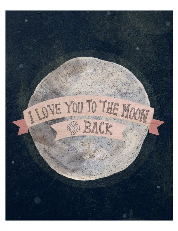 """""""I love you to the moon"""" by Yellow Button Studio"""