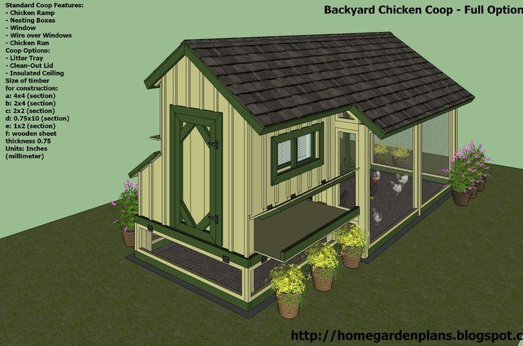 25 best ideas about chicken coop blueprints on pinterest for Backyard chicken coop plans