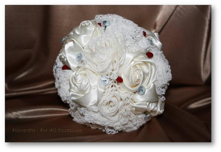Lace & satin bouquet .. @Nicole Gauci on twitter & Facebook