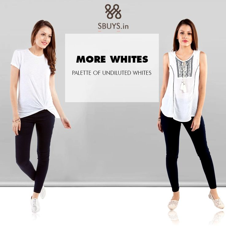 #Palette of undiluted whites...Find out #white #tops collection >>> http://www.sbuys.in/women-clothes.html