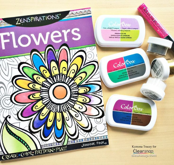 Coloring is so relaxing... there are even scientific studies about the health benefits of coloring! We were really excited to see this @zenspirations Coloring Book project from Kymona Tracey - a paintbrush with water can turn your ink pads into watercolors for coloring in your adult coloring books. See the tutorial PLUS Kymona's tips for adding glitter accents to your finished coloring book pages…