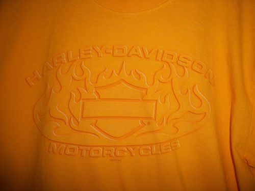 Mens-Harley-Davidson-Yellow-Large-Shirt