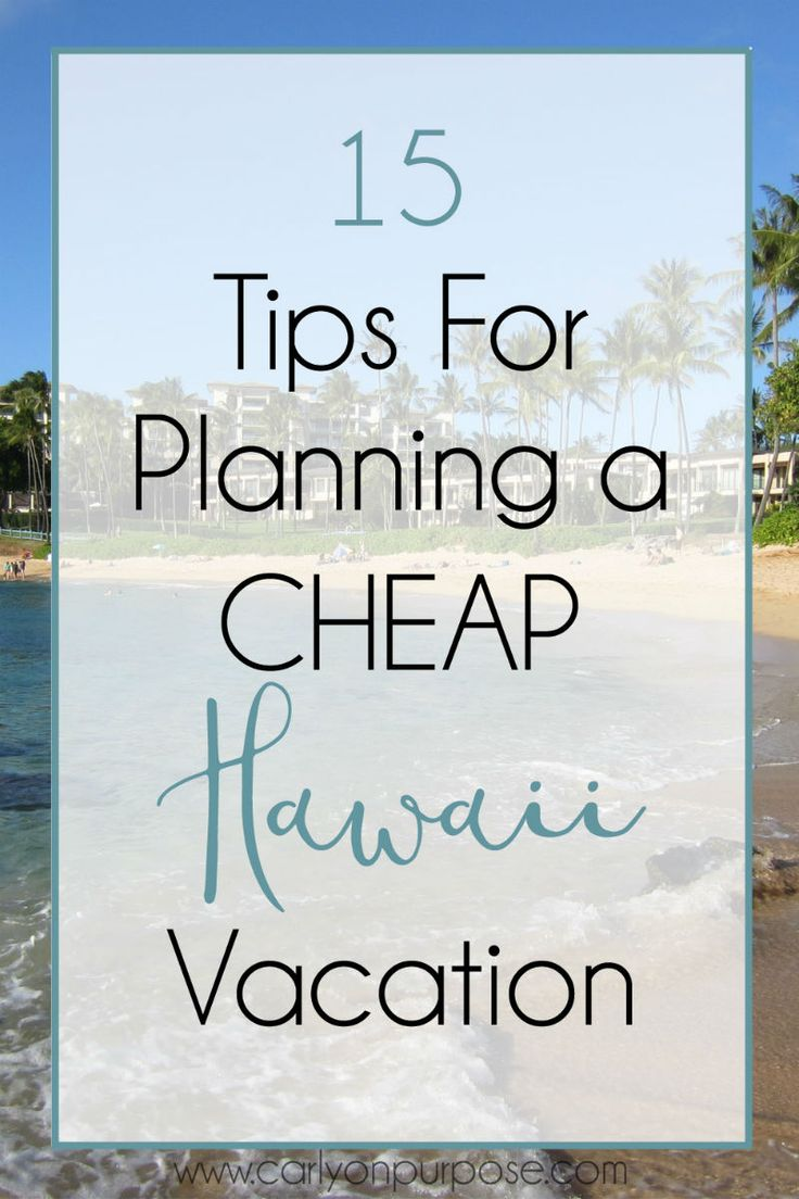 Cheap deals to hawaii