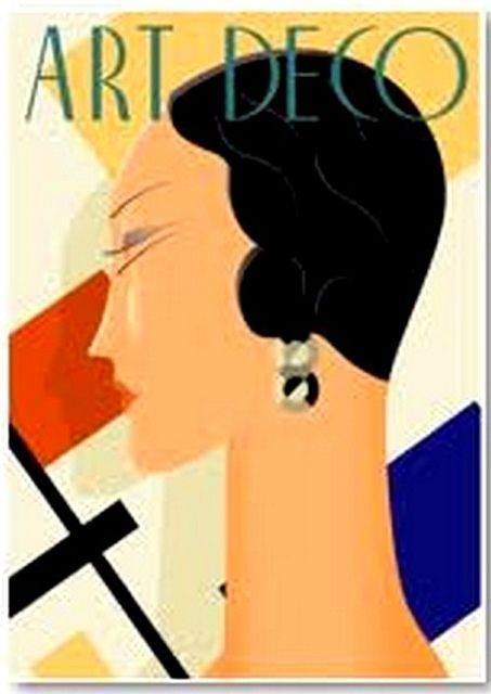 Jazz Age -Art Deco Poster:  This is the feel I'm going for.