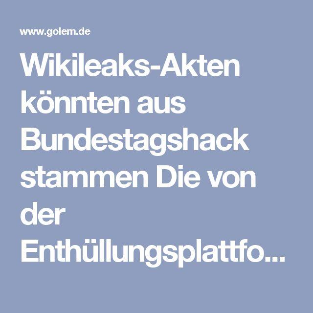 """Wikileaks-Akten könnten aus Bundestagshack stammen  Die von der Enthüllungsplattform Wikileaks veröffentlichten geheimen Akten aus dem NSA-Untersuchungsausschuss wurden möglicherweise beim Cyberangriff auf den Bundestag 2015 gestohlen. Die Opposition widerspricht dieser Darstellung.  Hierfür gebe es eine """"hohe Plausibilität"""", sagte ein hoher Sicherheitsbeamter der Frankfurter Allgemeinen Sonntagszeitung. Für den Angriff machen Sicherheitskreise russische Hacker verantwortlich. Damals…"""
