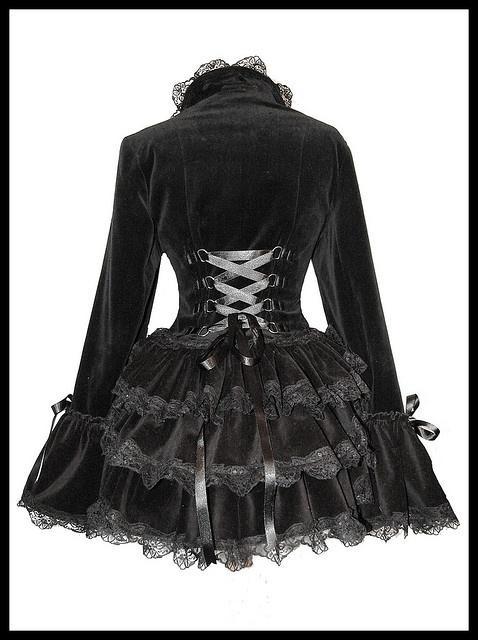 cute black velvet jacket...