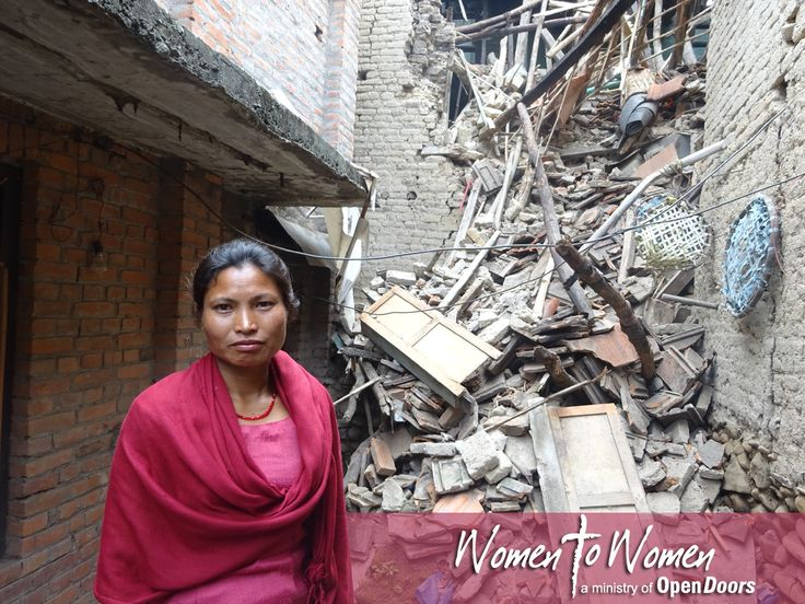Chininani Mali from Koinunya church in Bongmati stands in front of her house which is now in ruins.  Almost all the mud houses belonging to the members of the Bongmati church in Nepal were destroyed by the recent earthquakes. Please continue to pray for all those affected. May the Church in Nepal be comforted by the Lord and may they, in turn, respond with the Lord's comfort and wisdom to those around them. http://ht.ly/M49iU