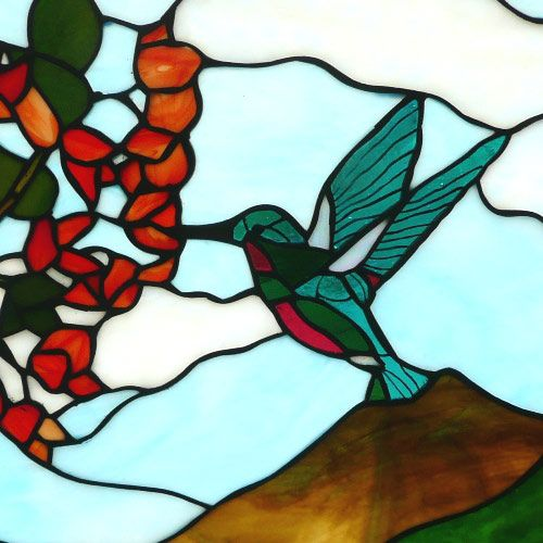 Hummingbird- Stained Glass