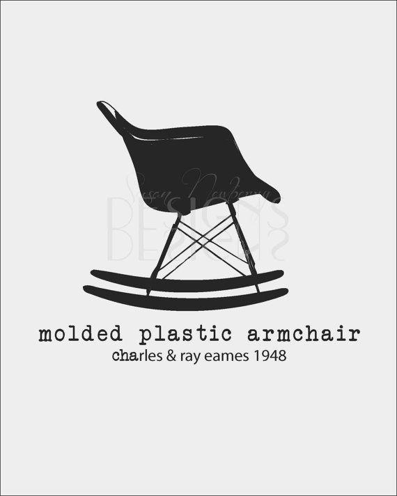 Room Decor Wall Art Shell Chair Molded Plastic Armchair