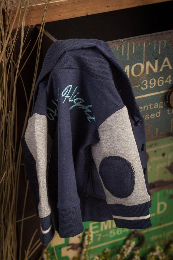 Dirkje: donkerblauw vest met grijze mouwen, €18,95 http://www.blauwlifestyle.nl/nl/babykleding.html?merken=141