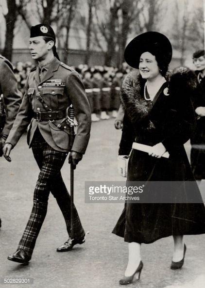 News Photo : Aldershot; England - King George VI and his...