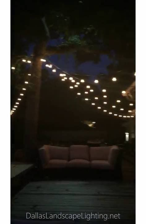 String Lights Installation : 77 best images about String / Party Lights Installation by Dallas Landscape Lighting on Pinterest