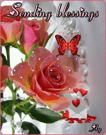 Sending Blessings animated friend good morning good day ...