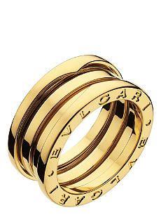 BVLGARI B.zero1 three-band 18ct yellow-gold ring