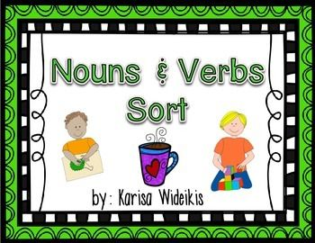 First grade noun and verb sort pocket charts activities for Is floor a noun