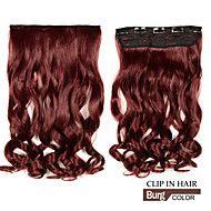 longo+clipe+na+ondulado+sintético+/+extensões+de+cabelo+encaracolado+com+5+clipes+burg+–+BRL+R$+83,66