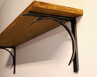 Extra Sturdy Shelf Bracket Scroll Design by ArtisansoftheAnvil