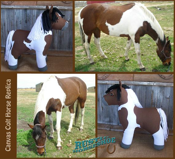 MADE to ORDER Canvas Colt Plush Horse made to by RusticHorseShoe