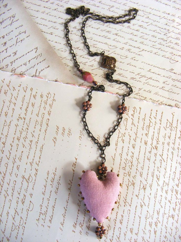 Textile jewelry Handmade blush pink beaded by The7thMagpie