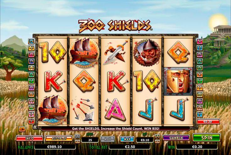 """""""This is Sparta!"""" schreeuwt Leonidas in de film '300', zoals hij en zijn kleine groep van Spartanen hun staat verdedigen tegen de Perzische god-koning Xerxes en zijn overweldigende aantallen te in de Slag bij Thermopylae. De film uit 2007 is gebaseerd op de iconische comic van de zelfde naam van Frank Miller's en deze online slot van NextGen Gaming referenties beide. 300 Shields is een 5 rollen, 25 winlijnen slot tegen een achtergrond van wind, tarwe veld en Spartan tempels geblazen."""