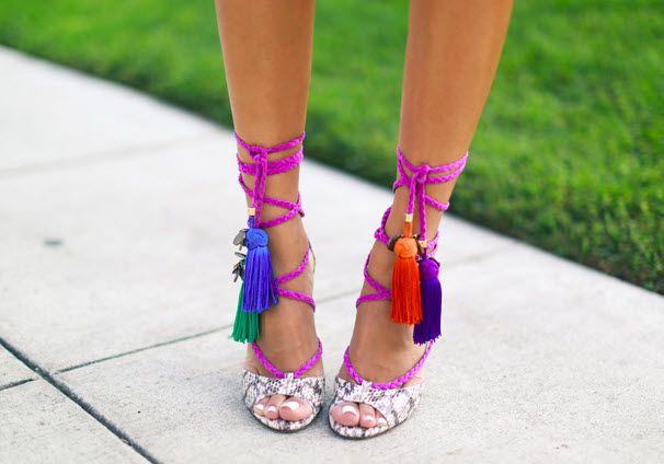 DIY :: Tassel Wrap Sandals (inspired by Jimmy Choo) | My Little Secrets | A Canadian DIY and Fashion Blog