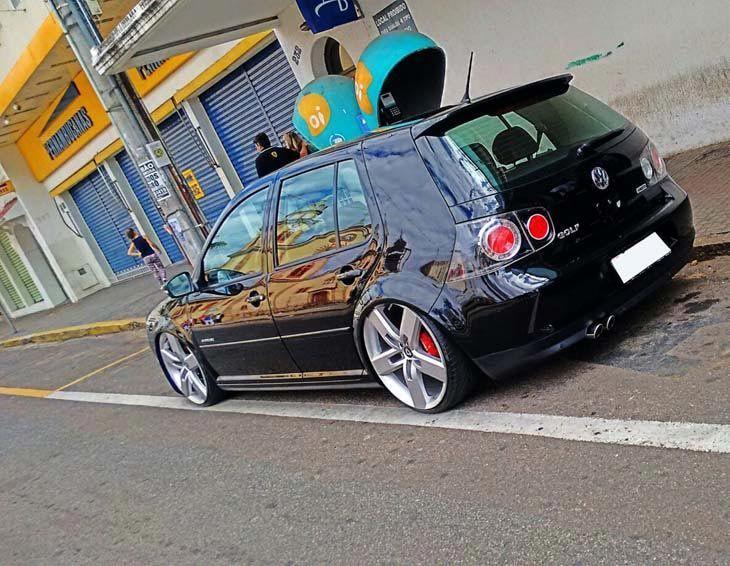 Carro Vw Golf 1 6 Sportline Cor Vermelho Marca Da Roda Volcano