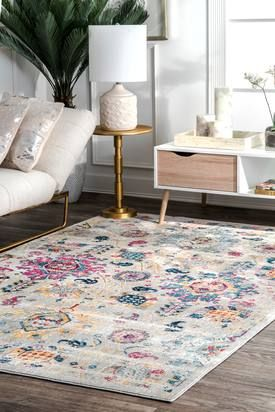 Rugs Usa Silver Blissville Parallel Flakes Rug Contemporary