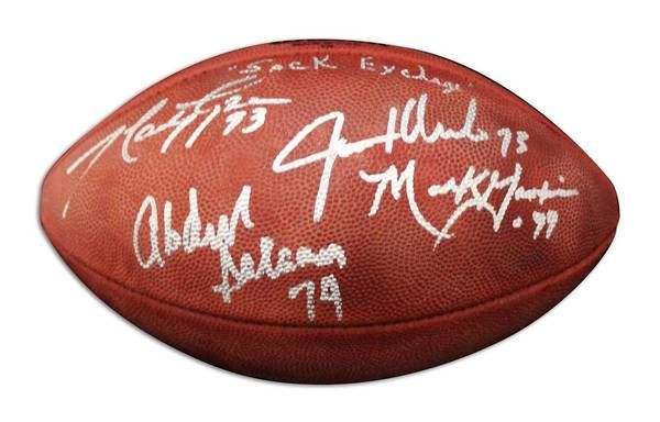 NFL Football Autographed by All Four Members of the New York Sack Exchange - APE COA