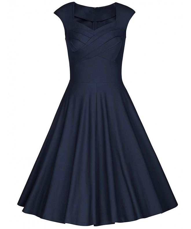 003de757e84de Women's 1950s Retro Tea Dress Vintage Cap Sleeve Swing Cocktail Dress -  Navy Blue - CV12I6IGLMP,Women's Clothing, Dresses, Cocktail #Clothing # Dresses ...
