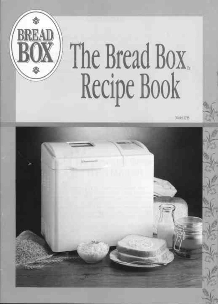 Toastmaster Bread Maker Bread Box User's Guide | ManualsOnline.com