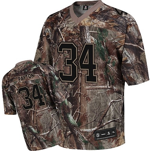 9f9f632c ... Authentic Throwback Shop for Official Reebok Chicago Bears 34 Wlter  Payton Camouflage Realtree Replica Jersey.