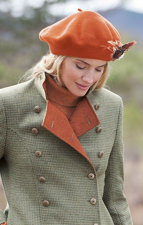 For her birthday on the 13th, Lori chose berets. This one is for Cathy.  beret by House of Bruar