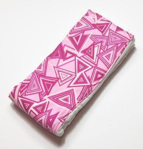 Baby Burp Cloth    Pink Triangles Burp Cloth   Baby Shower Gift, Baby Burp Rag, Pink Triangles Baby,  Baby Gift, Baby Burping Rag