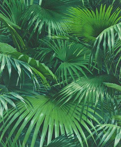 Fräckt djungelmönster i härligt intensivt grön färg från kollektionen In the Factory 524901. Klicka för att se fler fräcka tapeter till ditt hem!