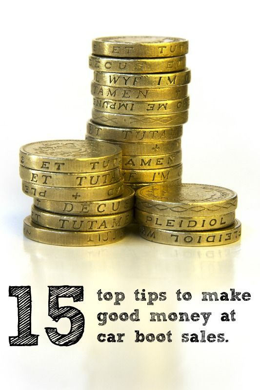 15 Top Tips to make sure that you have a successful car boot sale and make lots of money http://www.healthydinneroptions.com/