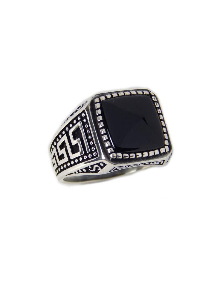 Excited to share the latest addition to my #etsy shop: Man Sterling Silver ring with onyx stone http://etsy.me/2FmjOes #jewelry #ring #no #onyx #black #men #silver #silverring #menring