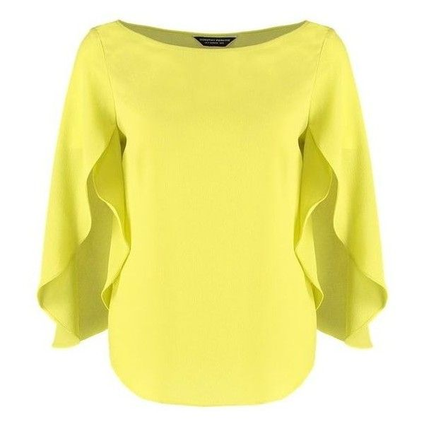 Dorothy Perkins Blouse lime green ❤ liked on Polyvore featuring tops, blouses, crew neck top, tall tops, lime top, crew neck blouse and lime green blouse