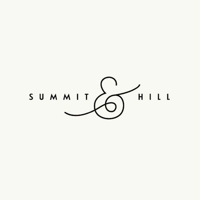 Simple Logo Design | Summit & Hill Logo by White Loft Creative