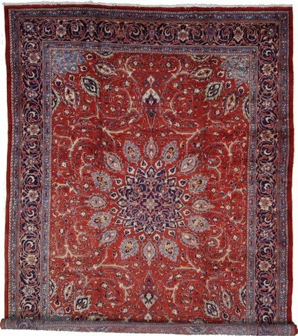 9' 8 x 13' 2 Red Mahal Area Rug